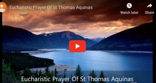 Eucharistic Prayer Of St Thomas Aquinas